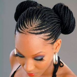 Thin-Ghana-Braid-Double-Buns